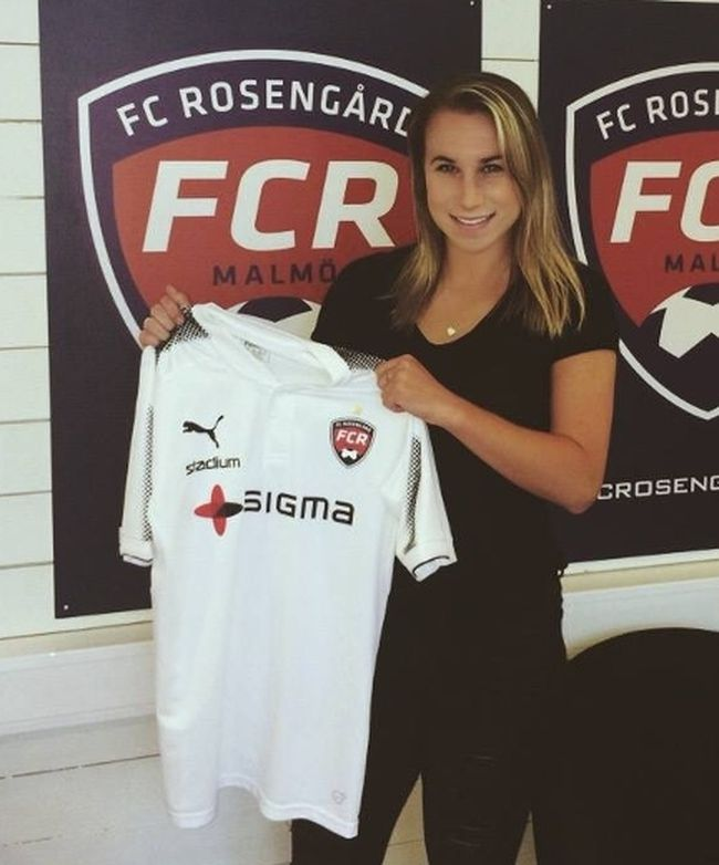 Sudbury's Jenna Hellstrom has begun her pro soccer career in Sweden. Supplied photo