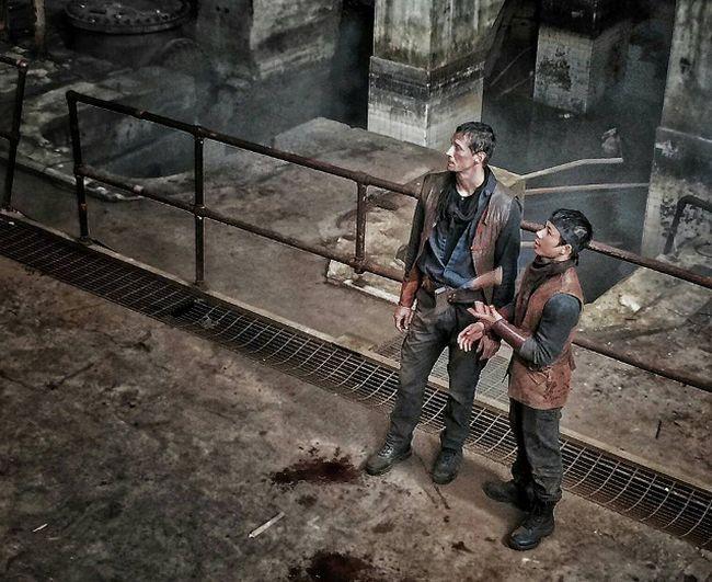 Stuntman John Bernecker is seen on the set of The Walking Dead in 2015. (Facebook/John Bernecker)