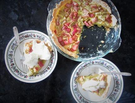 Simon Thibault's Rhubarb Custard Pie. (Subbmitted photo)