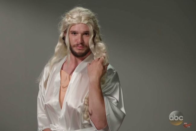 Kit Harington auditions for Daenerys Targaryen. (Video Screenshot)