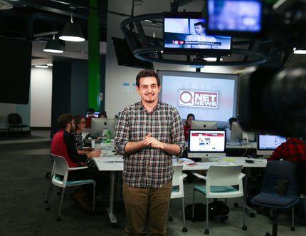 Journalism student Mark Hodgins.