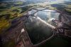 An aeriel photo provided by Sierra Club shows the coal ash waste site. (KESTRAL AERIAL SERVICES INC.)