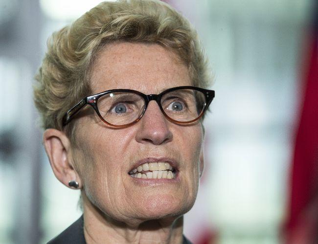 Premier Kathleen Wynne speaks during an event in Toronto on Wednesday, June 14. (CRAIG ROBERTSON/TORONTO SUN)