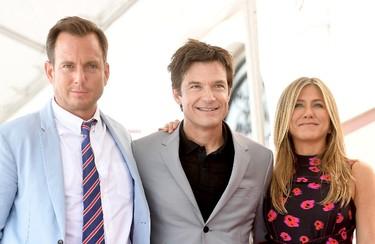 Left to right: Will Arnett, Jason Bateman, and Jennifer Aniston attend The Hollywood Walk of Fame Star Ceremony honouring Jason Bateman on July 26, 2017 in Hollywood, California.  (Photo by Matt Winkelmeyer/Getty Images)
