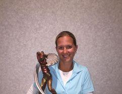 PHOTO SUPPLIED - Local golfer Keltie Wild holds her trophy from the Edmonton women's amateur golf championship.