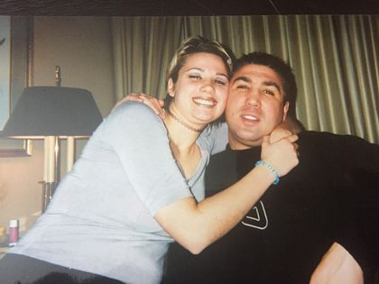 Jessie Melo and her father, Eddie