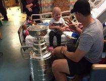 Crosby at hospital