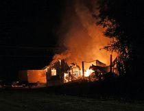 Fire scene at 650 Kamiskotia Road in Timmins on Monday August 7, 2017. LEN GILLIS / Postmedia