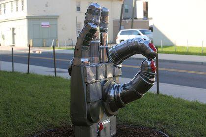"""Helping Hands"" sculpture"