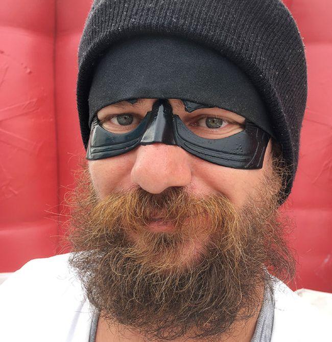 "Elliot Ferguson/The Whig-Standard Real-life ""superhero"" Polar Man moved to Kingston from Iqaluit, Nunavut, three years ago."