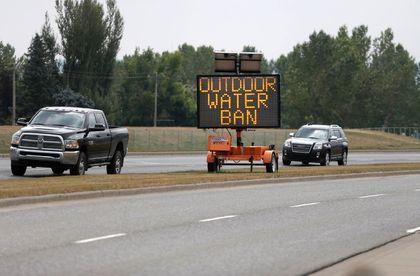 Okotoks water ban