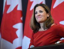 Foreign Affairs Minister Chrystia Freeland discusses modernizing NAFTA at public forum at the University of Ottawa in Ottawa on Monday, Aug. 14, 2017. THE CANADIAN PRESS/Sean Kilpatrick