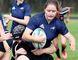 Larissa McFadden of the Ursuline Lancers senior rugby team. (MARK MALONE/The Daily News)