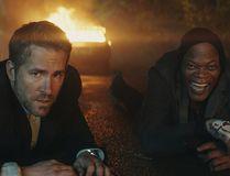 "Michael Bryce (Ryan Reynolds) and Darius Kincaid (Samuel L. Jackson) in ""The Hitman's Bodyguard."" (Courtesy of Lionsgate Entertainment)"