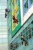 Window washing superheroes