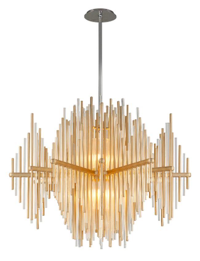 Corbett Lighting's Theory LED Pendant light is a show-stopper for  house guests. (Corbett Lighting PHOTO)
