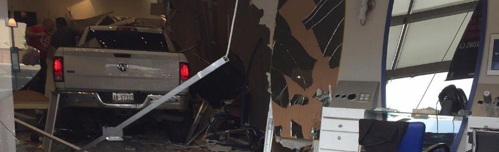 Vehicle crashes into Hillcrest Mall