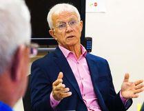 LUKE HENDRY/The Intelligencer QHC's Paul Huras speaks at Monday meeting.