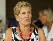 Premier Kathleen Wynne speaks during a visit to Peterborough on Wednesday, Aug. 2. 2017. (CLIFFORD SKARSTEDT/POSTMEDIA NETWORK)