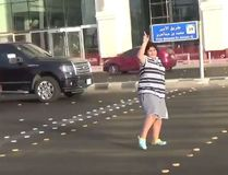 In this screenshot, a Saudi boy, 14, dances in the streets to 'Macarena' in the city of Jiddah, Saudi Arabia. (Twitter/@xmyd3)
