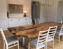 Imagine the dinner conversation around this live edge table. Postmedia Network