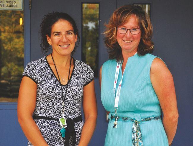 A.B. Daley Community School teachers Sandra Gammie, left, and Michelle Watt.