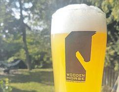 Wooden Horse's seasonal Saison Kombucha blends beer with Chinese kombucha tea. (Wayne Newton/Special to Postmedia News)
