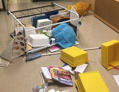 Vandals caused an estimated $10,000 damage to St. Bernard's school in Waterford. (Norfolk OPP photo)