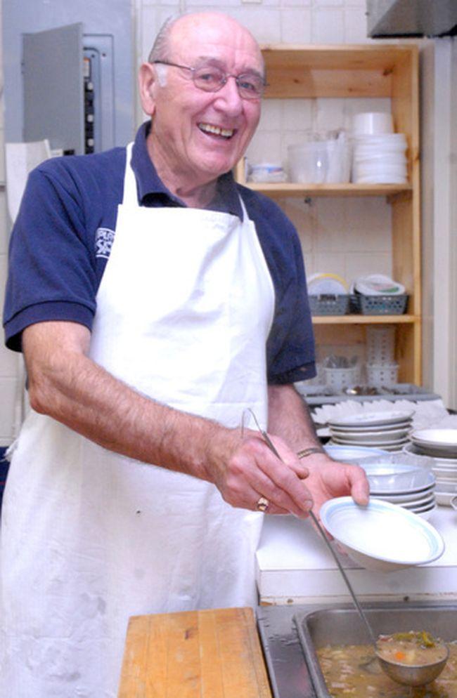 Angelo Dovigi at Soup Kitchen Community Centre in 2008. (Sault Star File Photo)