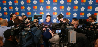 Auston Matthews at Toronto Maple Leafs medical and photos day at MasterCard Centre in Toronto on Thursday September 14, 2017. Michael Peake/Toronto Sun/Postmedia Network