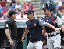 Umpire hit