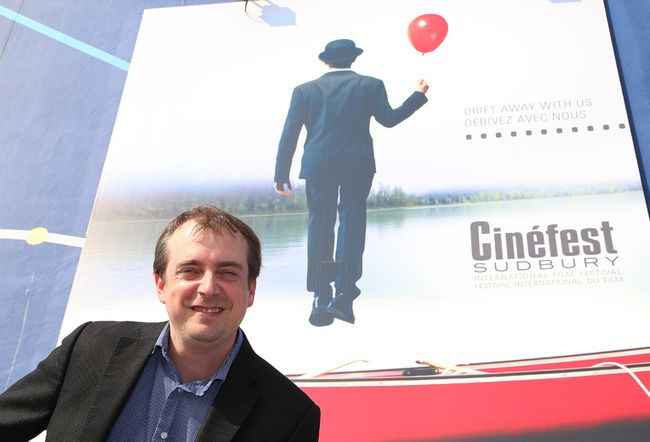 Patrick O'Hearn, managing director at Cinefest, what happens at Cinefest, stays at Cinefest. John Lappa/The Sudbury Star