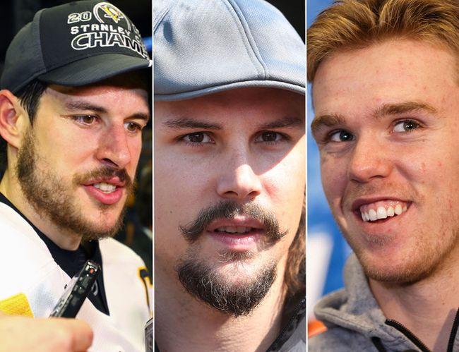 Sidney Crosby, Erik Karlsson, Connor McDavid (Postmedia/Getty)