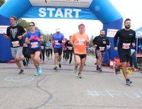 Runners started the 21K Half Marathon during the Melfort Multi-K on Saturday, September 16.