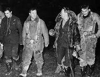 Flt. Lieutenant 'Cay' Cayford (far left), c. 1943.