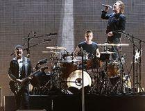 (L-R) The Edge, Larry Mullen Jr., Bono and Adam Clayton of U2 perform during The Joshua Tree Tour 2017 at University of Phoenix Stadium on Sept. 19, 2017 in Glendale, Arizona. (Christian Petersen/Getty Images)