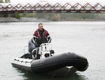 Calgary police Marine One boat