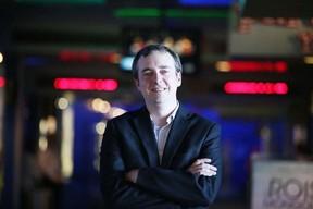 Patrick O'Hearn, managing director of Cinefest Sudbury at SilverCity in Sudbury, Ont. on Sunday September 24, 2017. The festival wrapped up on Sunday night with the gala Mary Shelley. (Gino Donato/Sudbury Star)