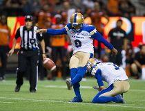 Winnipeg Blue Bombers' kicker Justin Medlock