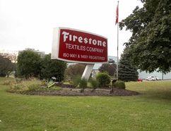 Firestone Textiles Company in Woodstock, Ont. will close in 2018. (DEREK RUTTAN, The London Free Press)