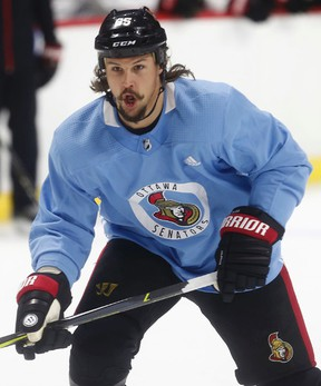 Senators captain Erik Karlsson will miss the opener tonight. (Tony Caldwell/Postmedia)