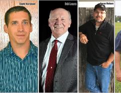 Strathcona County Ward 5 councillor candidates David Kierstead, Bob LemanBob Leman, Aaron Nelson and Paul Smith.