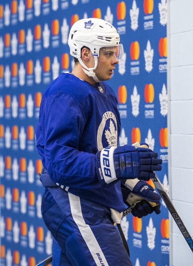 Auston Matthews during a Toronto Maple Leafs practice at the Mastercard Centre in Toronto on Oct. 3, 2017. (Ernest Doroszuk/Toronto Sun/Postmedia Network)