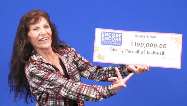 Bothwell's Sherry Parnall has won $100,000 through Encore's Ontario 49 draw. (Handout)