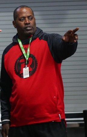 Redblacks defensive line coach Leroy Blugh spent nine days in hospital receiving treatment for pneumonia. (JEAN LEVAC/Postmedia Network files)