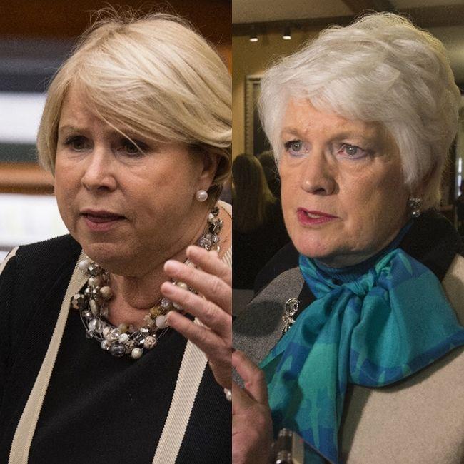 Liberal MPPs Deb Matthews, left, and Liz Sandals (Postmedia Network files)