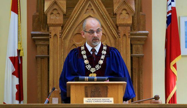 Mayor Taso Christopher.