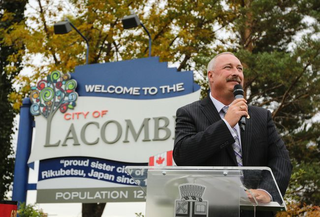 Steve Christie ended his final term as mayor on Monday. (Ashli Barrett/Lacombe Globe.)