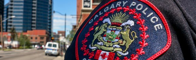 Calgary police stock photo