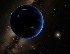 An artist's view of Planet Nine, looking back toward the sun. (Caltech)